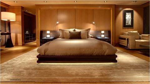 Lights fixtures in bedroom