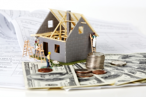 http://www.dreamstime.com/stock-photos-house-under-construction-family-money-background-image35582433