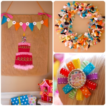 Ribbons - the best accessory for a surprise birthday party